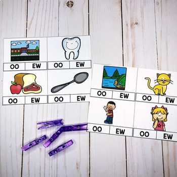 EW,OO Diphthong Activities and Printables