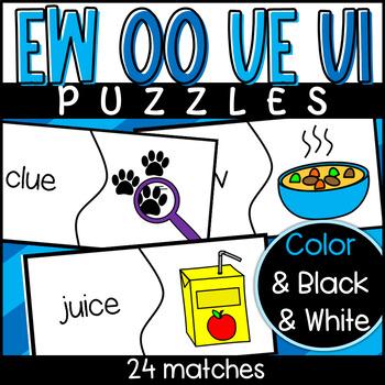 Phonics: EW, UE, OO Activities- Maze, Mystery Picture, Puzzle