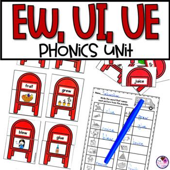 EW UE UI Activities Phonics Phonics worksheets Teaching