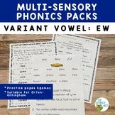 EW Variant Vowels   Orton-Gillingham Multisensory Phonics