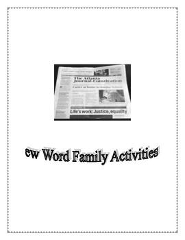 EW WORD FAMILY ACTIVITIES