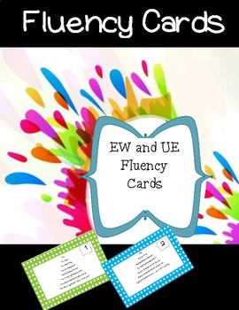 EW and UE Fluency Cards