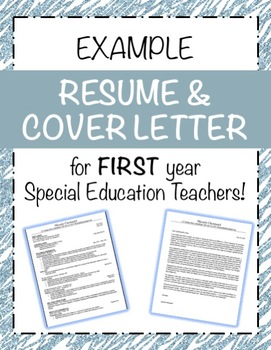 EXAMPLE Resume & Cover Letter