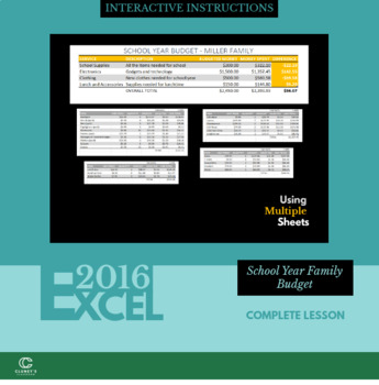 EXCEL 2016 - Family School year Budget