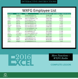 EXCEL 2016 - More Functions - WXFG Radio
