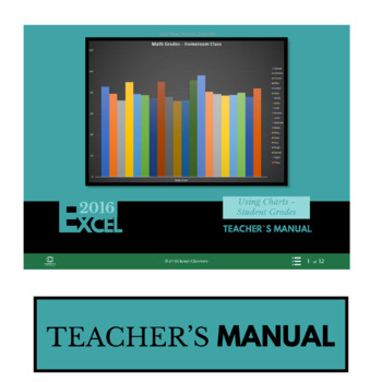 EXCEL 2016 - Using Charts - Student Grades