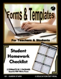 """STUDENT ASSIGNMENT TRACKER/RECORD SHEET - """"Help Students M"""