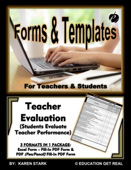 """EXCEL TEMPLATE & WORD FORM """"Student Evaluation of Teacher Performance"""""""