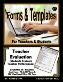 "TEACHER PERFORMANCE EVALUATION (Excel) - ""Students Evaluat"