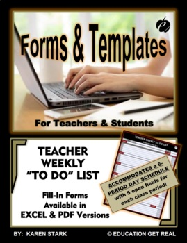 """WEEKLY HOMEWORK ASSIGNMENT CHECKLIST """"Help Students Be Organized & Accountable"""""""