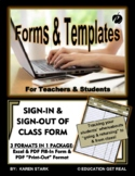 """STUDENT SIGN IN/OUT FORM - """"Tracking Students Leaving & Re"""