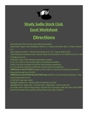 EXCEL WORKSHEET--Shady Lady Stock Club
