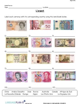 EXCHANGING CURRENCY (FRENCH)
