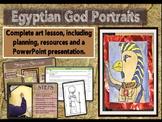 EGYPTIAN GOD PORTRAITS - COMPLETE LESSON
