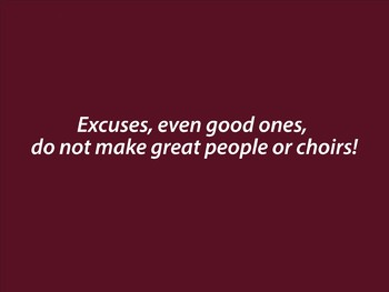 EXCUSES Poster