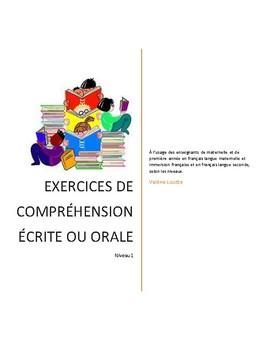 EXERCICES DE  COMPRÉHENSION ÉCRITE OU ORALE