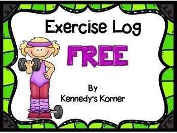 EXERCISE LOG FREEBIE