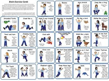 EXERCISES to Motivate & Improve behavior for Pre-k & Primary grades