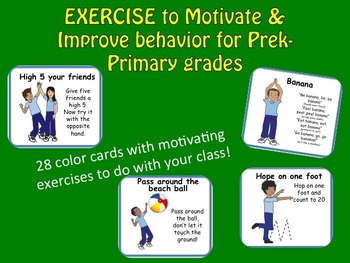 EXERCISES to Motivate & Improve behavior for Pre-k & Prima