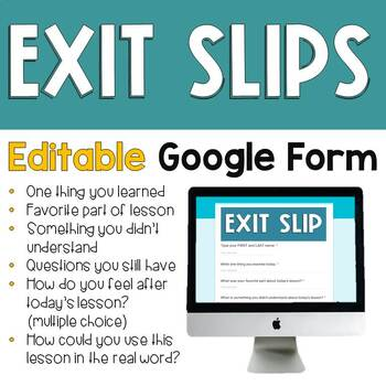 EXIT SLIP in Google Form