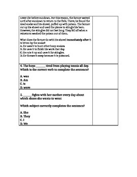 EXIT TICKET- SEQUENCE OF EVENTS/VERBS