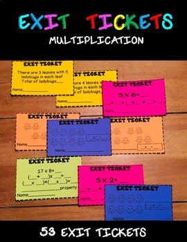 EXIT TICKETS MATH/Multiplication properties/ Multiplication strategies