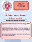 EXIT TICKETS TEMPLATES COLLECTION USING DOK WHEEL