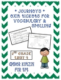 EXIT TICKETS - Vocab and Spelling 2nd Grade Journeys Unit 4 ©2014
