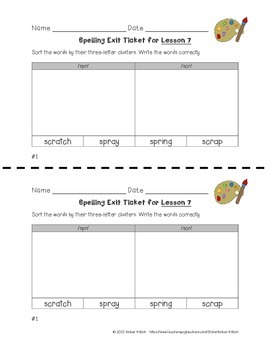 EXIT TICKETS - Vocab and Spelling 3rd Grade Journeys Unit 2 ©2014