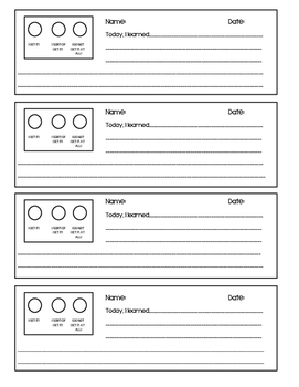 EXIT Ticket - What I Learned Today