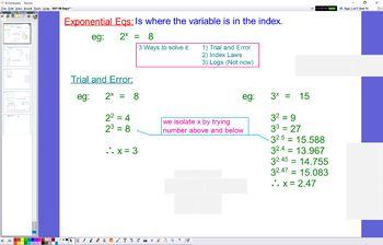 EXP 08 Exponential Equations no logs