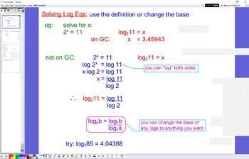 EXP 11 Solving Log Eqs