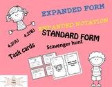 EXPANDED FORM-NOTATION, TASK CARDS,SCAVENGER HUNT 4.2 A,B