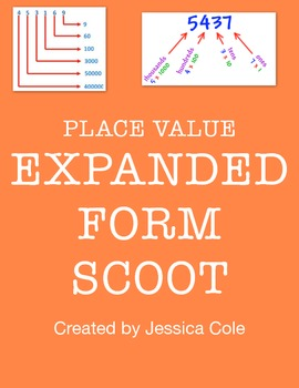 EXPANDED FORM  SCOOT! (place value)