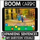 EXPANDING SENTENCES Boom Cards™ Speech Therapy Distance Learning