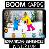 WH QUESTIONS Boom Cards™ Speech Therapy | Verbs | GIFs | Winter