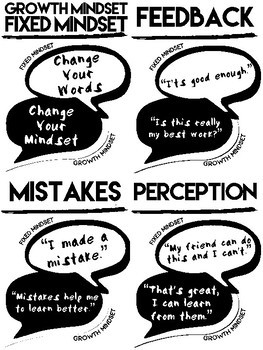 FIXED AND GROWTH MINDSET QUOTE POSTERS