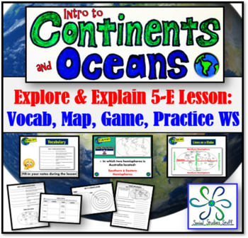 EXPLAIN:  Practice Activities (Maps, Continents, and Oceans)