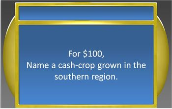 EXPLORATION & COLONIZATION:  Jeopardy Game