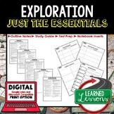 EXPLORATIONS Outline Notes, Explorers Bullet Notes, Unit Review, Test Prep