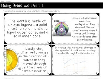 EXPLORE: Evidence for Earth's Layers, NGSS Aligned, 5E Based