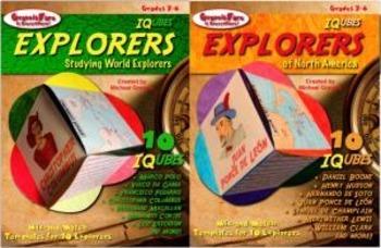 EXPLORERS BUNDLE: IQubes— World Explorers & Explorers of North America—SAVE 15%