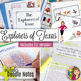 TEXAS EXPLORERS with DOODLE NOTES for ELL  - Explorers to Texas