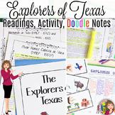 Texas Conquistadors Activity with Doodle Notes for 7th Grade Texas History