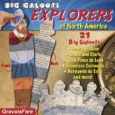 Explorers: Explorers of North America--Big Galoots Foldable Activity