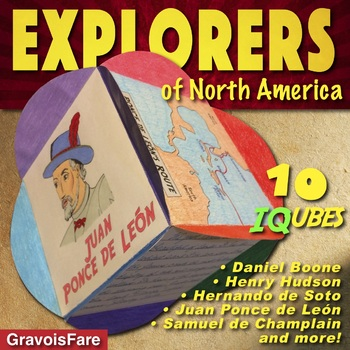 EXPLORERS: Studying Explorers of North America—10 IQubes—50 Mix'nMatch Templates