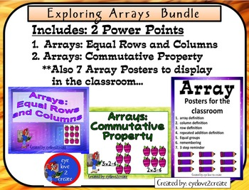 {ARRAYS} EXPLORING ARRAYS {BUNDLE} { 2 Interactive Power Points and 7 Posters}