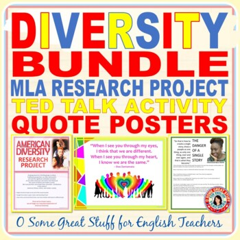 EXPLORING DIVERSITY Research, Novel Project, and Bulletin Board Bundle