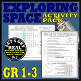 EXPLORING SPACE Activity Pack for Grades 1-3