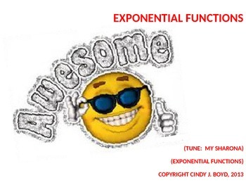 EXPONENTIAL FUNCTION SONG